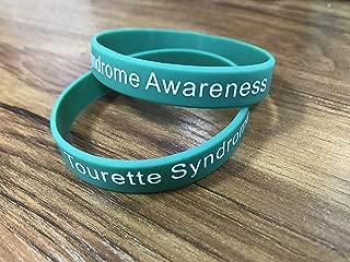 Teal Silicone Tourette Syndrome Awareness Wristband