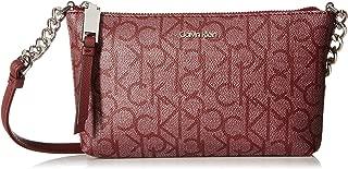 Calvin Klein womens Hayden Key Item Signature Top Zip Chain Crossbody