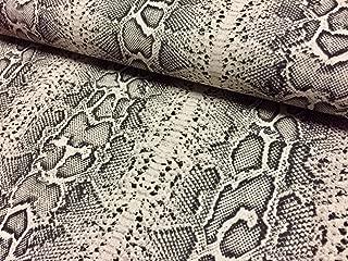 HomeBuy Snake Skin Or Zebra Animal Print Fabric Linen Cotton Blend Curtain Decor Dress 140Cm Wide (Snake Skin)