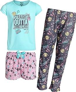 a99a8e9a803f9 Limited Too Girls' Sleepwear Pajama 3 Piece Set with Tee, Shorts, and Pants