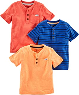Simple Joys by Carter's Toddler Boys' 3-Pack Short-Sleeve Pocket Henley Tee Shirt