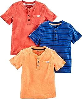 Toddler Boys' 3-Pack Short-Sleeve Pocket Henley Tee Shirt