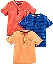 Simple Joys by Carter's Toddler Boys' 3-Pack Short-Sleeve Pocket Henley Tee Shirt