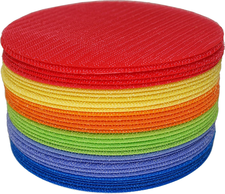 Krtyel Carpet MarkIts Sitting Spots 13cm Diameter  Set of 30 (Red, orange, Yellow, Green, bluee, Purple)
