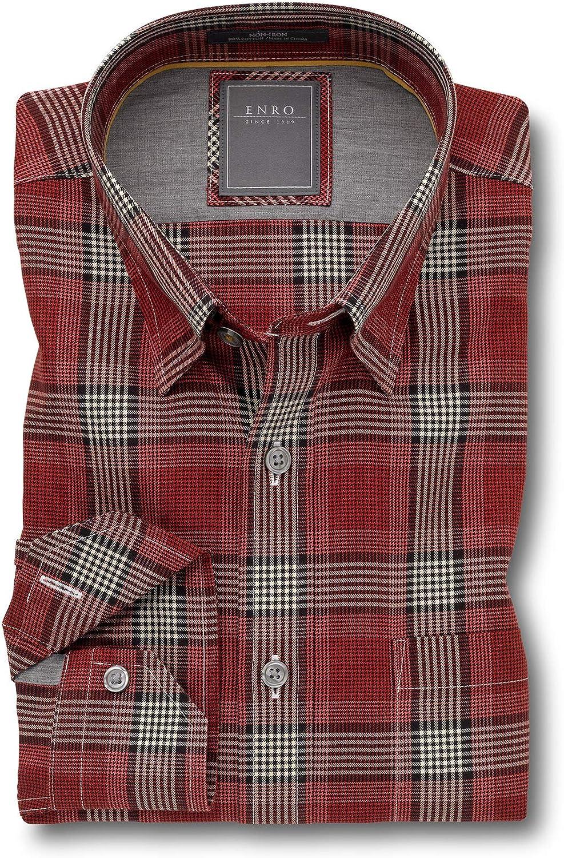 Enro Non-Iron Humphreys Plaid Big & Tall Sport Shirt