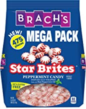 Brach's Star Brites Peppermint Starlight Mints Hard Candy, 5 Pound Bulk Candy Bag Individually Wrapped Bulk Holiday Candy