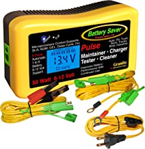 Battery Saver 2365-LCD Battery Charger, Maintainer, Pulse Cleaner and Tester-50 W (6V and 12 V)