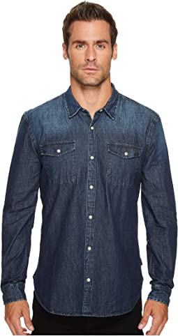 John Varvatos Star U.S.A. - Denim Snap Front Sport Shirt