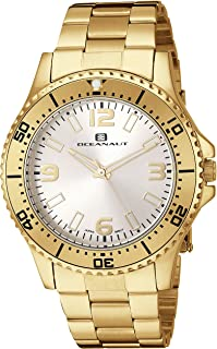 Oceanaut Women's Camara Stainless Steel Quartz Watch with Stainless-Steel Strap, Gold, 40 (Model: OC9812)