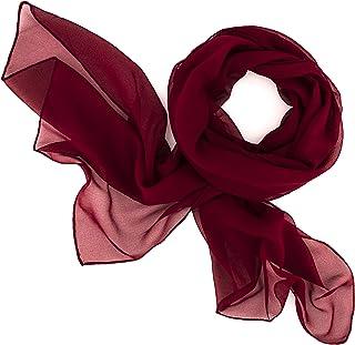 Dolce Abbraccio Damen Schal Stola Halstuch Tuch aus Chiffon für Frühling Sommer Ganzjährig