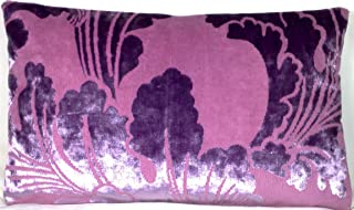 Designers Guild Velvet Decorative Pillow Throw Case Pink And Lilac Cushion Cover 20
