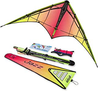 Prism Kite Technology Jazz Dual-line Sports Kite, Ready to Fly with Flying Lines, Wrist Straps, Winder, Instructions and Storage Bag