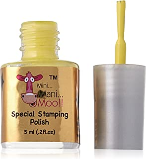 Mini Mani Moo Special Stamping Polish In Small Size Pastel, Yellow, 0.20 Ounce
