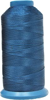 Mandala Crafts Bonded Nylon Thread for Sewing Leather, Upholstery, Jeans and Weaving Hair; Heavy-Duty; 1500 Yards Size 69 T70 (Airforce Blue)