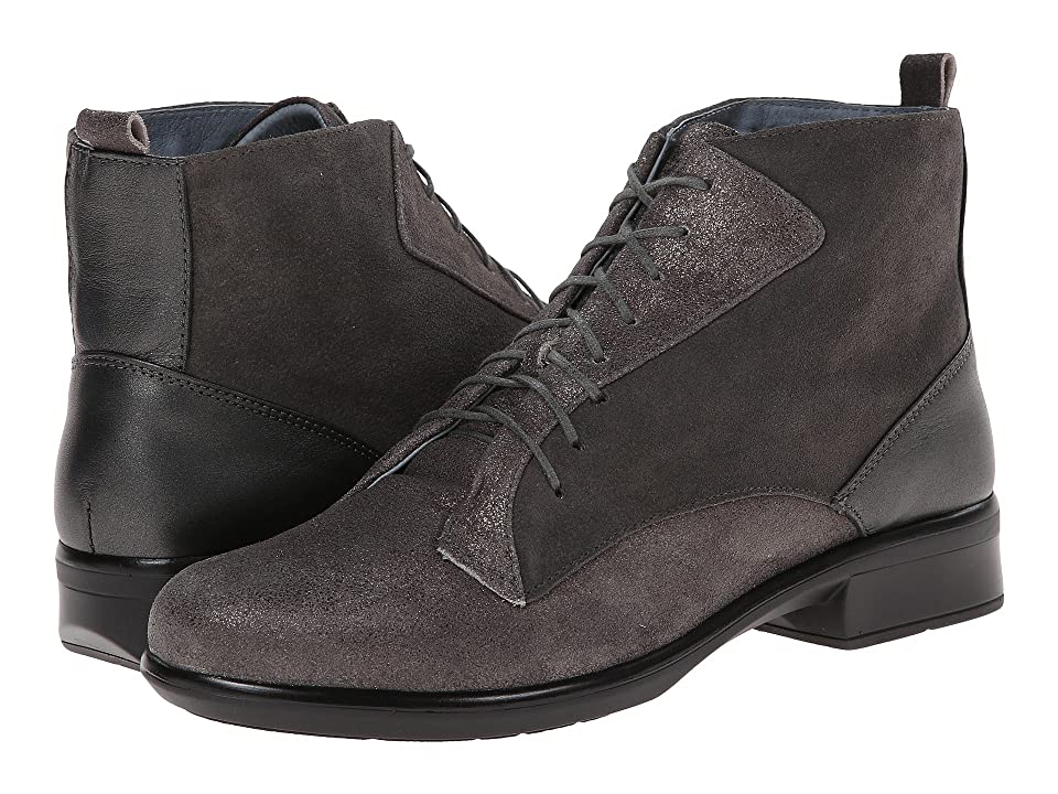 Naot Mistral (Gray Shimmer Leather/Gray Suede/Metallic Road Leather) Women