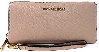 Michael Kors Jet Set Travel Continental Leather Wallet/Wristlet - Ballet