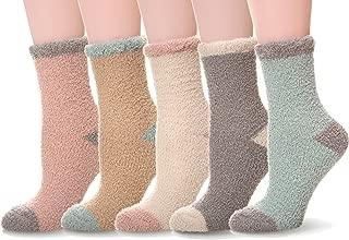 WENER Women's 5 pairs Super Soft Microfiber Fuzzy Winter Warm Slipper Home Socks