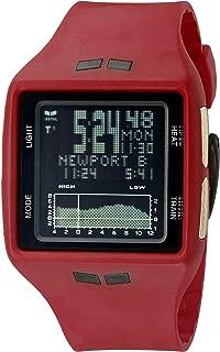 Vestal Unisex BRGOLD04 Brig Digital Display Quartz Red Watch