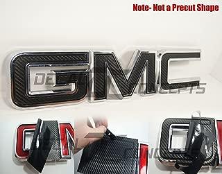 Decal Concepts GMC Sierra/Yukon Black Carbon Fiber Front Grill Emblem Overlay Wrap Kit (07-17)