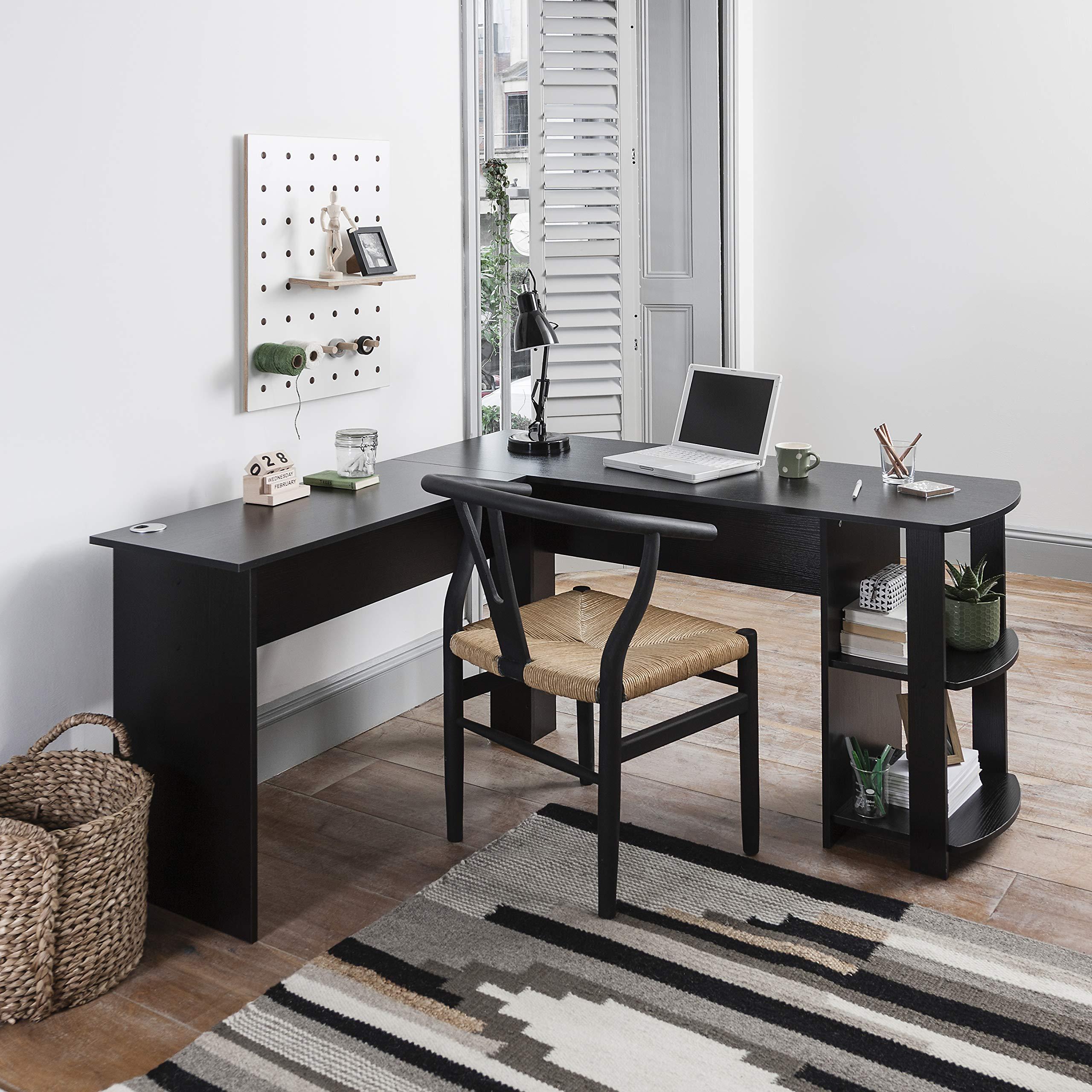 Laura James Black Corner Desk - Computer Desk - Home Office Desk