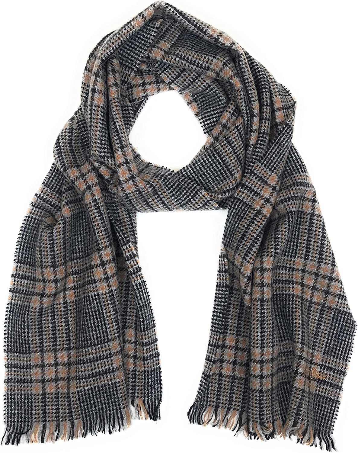 Hickey Freeman Men's 100% Italian Cashmere Lightweight Scarf, 72 inches x 22 inches