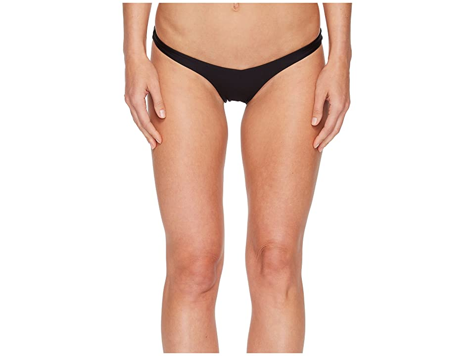 Sports Illustrated Rebel Rebel Skimpy V Bikini Bottom (Black) Women