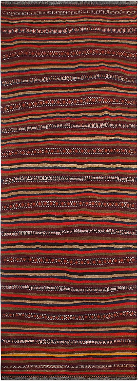 Tribal Import Vintage Kilim Wilfo Hand-Woven Area Large discharge sale 3'11'' x - 11'2'' Rug