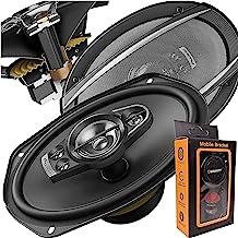 Pair of Pioneer 6x9 Inch 5-Way 700 Watt Car Audio Speakers | TS-A6990F (2 Speakers) + Free Gravity Mobile Bracket Holder, ...