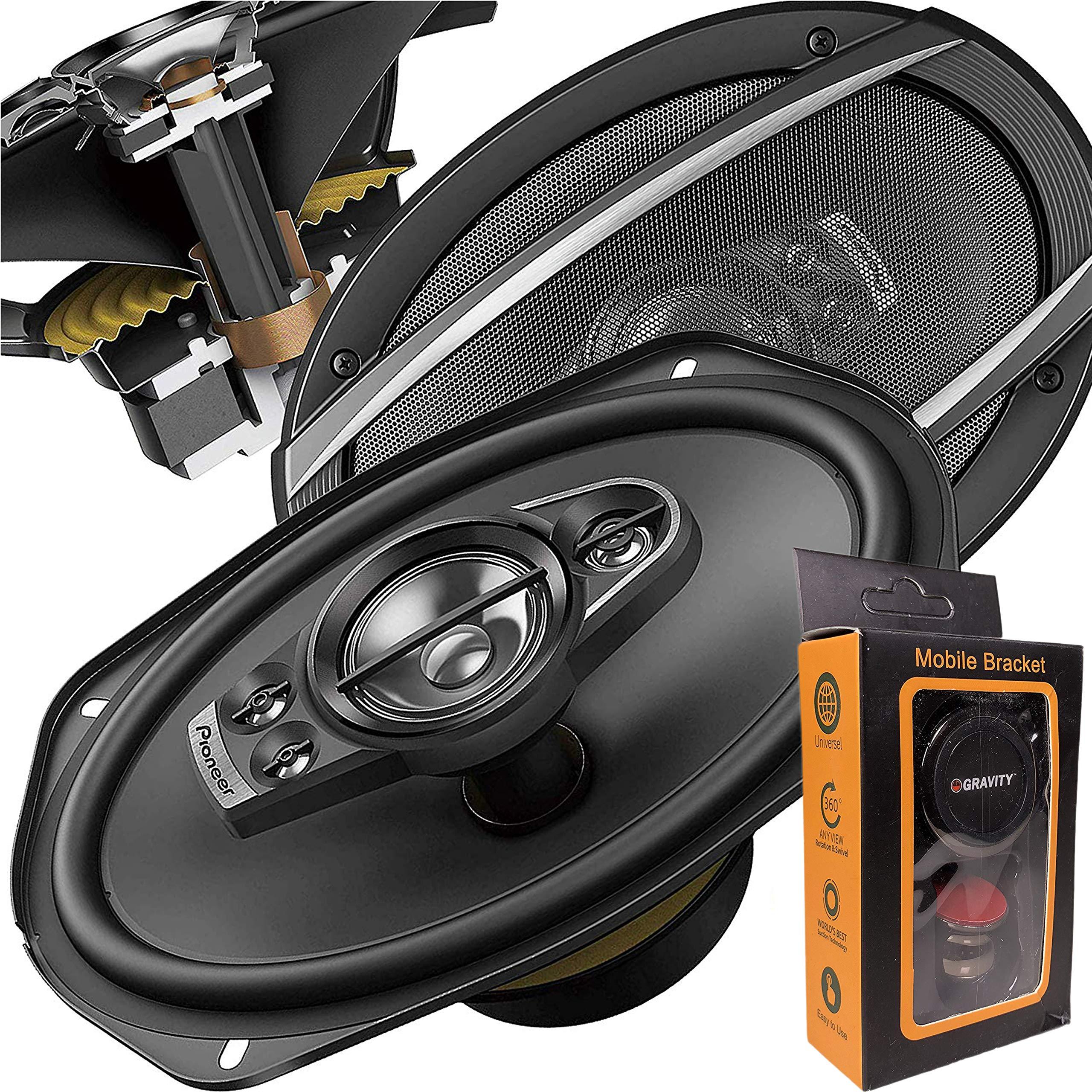 Pair Pioneer Speakers TS A6990F Gravity