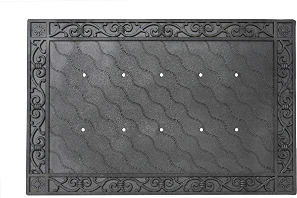 Toland Home Garden 850100 Recycled Rubber Holder Doormat Tray 24 X 36 Black