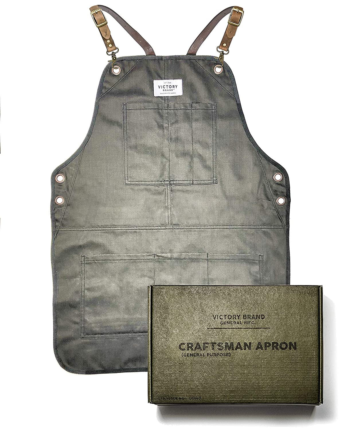 Military Green Craftsman Apron by Barber Outlet SALE Brand Cross Virginia Beach Mall Victory