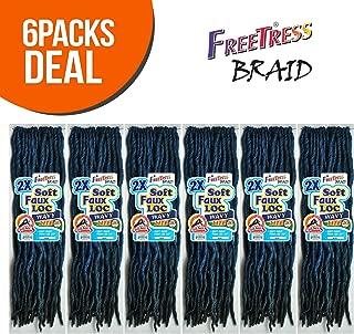 FreeTress Synthetic Hair Crochet Braids 2X Soft Wavy Faux Loc 20