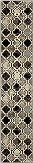 Superior Viking Area Rug, Bold Trellis Vintage Pattern, 2' x 11', Ivory