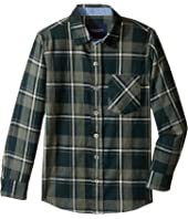 Toobydoo - Forest Green Flannel Shirt (Infant/Toddler/Little Kids/Big Kids)
