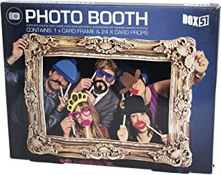 Photo Booth - Photo Frame with 24 Props for Party Photos