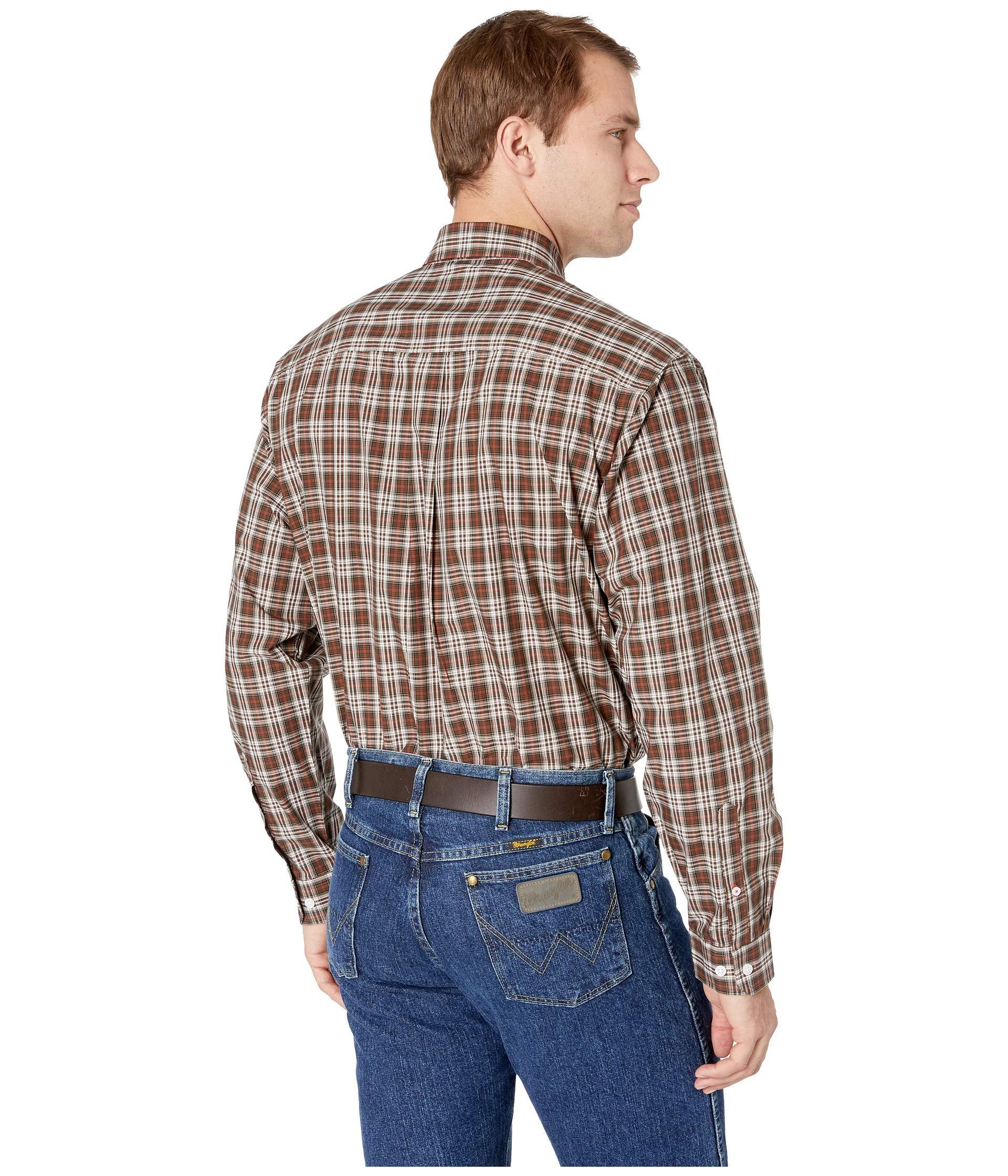 1 Long Brown Cinch Plaid Sleeve RU1xqI
