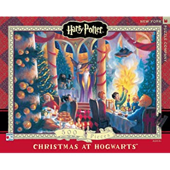 New York Puzzle Company 500 Piece Jigsaw Puzzle Harry Potter Hogwarts