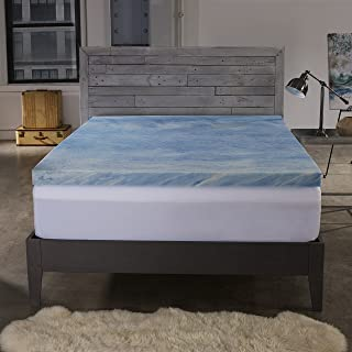 Sleep Innovations 2.5-inch Gel Memory Foam Mattress Topper with 100% Cotton Cover, Made in The USA with a 10-Year Warranty - Full Size