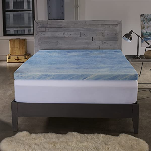 Sleep Innovations 2 5 Inch Gel Memory Foam Mattress Topper With 100 Cotton Cover Made In The USA With A 10 Year Warranty King Size