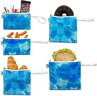 Bolsas de sándwich reutilizables de doble capa, Azul Ice