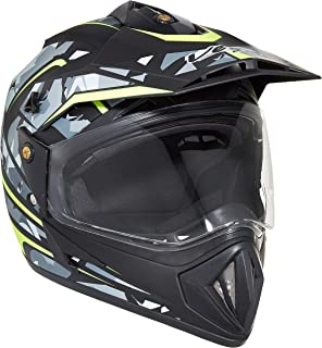 Vega Off Road D/V Camo Dull Black Yellow Helmet, M