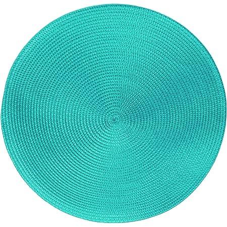Sets de table -Serie Marrakech - Lot de 4 - différentes tailles et couleurs, Fibres synthétiques, Turquoise., Ø 38 cm