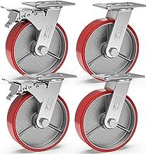 GBL® 4 Zwenkwielen 150mm   Zwaarlastwielen 1280KG - Zwenkwielen Voor Meubels   Zwenkwieltjes voor een Trolley - Zwenkwiele...
