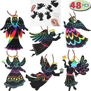 JOYIN Rainbow Color Scratch Angel Ornaments (5