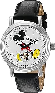 Disney Women's 'Mickey Mouse' Quartz Metal Watch, Color:Black (Model: W002751)