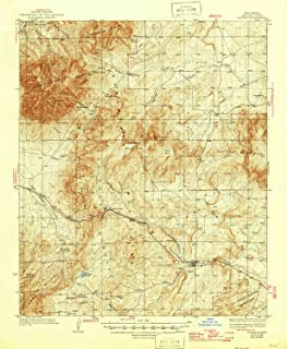 YellowMaps Capitan NM topo map, 1:62500 Scale, 15 X 15 Minute, Historical, 1937, Updated 1946, 20.6 x 17 in