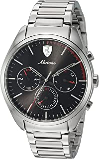 Men's 0830505 Abetone Analog Display Quartz Silver Watch