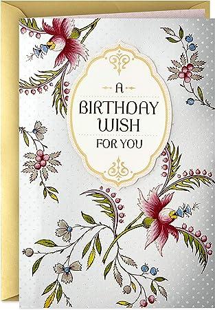 Hallmark Golden Thread Birthday Card (A Birthday Wish)