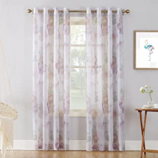 Best purple and white sheer curtains Reviews