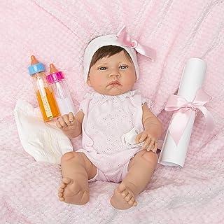 MARÍA JESÚS Bebe Reborn Muñecas para niñas con VENITAS, rojeces y Peso Especial, Bebes Reborn, Muñecos Reborn con Cuerpo Completo de Vinilo, Hecho 100% en España
